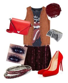 """hipster punk in the city"" by poulinelaine on Polyvore featuring Topshop, Christian Louboutin and Alexander Wang"