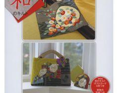 Libro de arte japonés patchwork diseño n86 por PinkNelie en Etsy