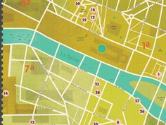 RW Awesomeness of the Day:  Map of Paris designed by Kelli Anderson #Map