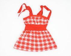 Vintage Toddler Girl Dress Red White Gingham by ShopTwitchVintage, $14.00 #vintage #etsy #toddler #girl #sundress #gingham #plaid #dress