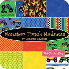 Marci seibert on pinterest for Monster truck fabric