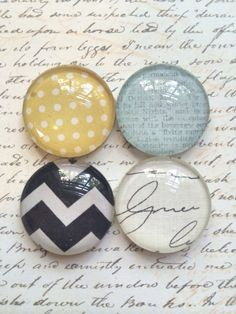 IN STOCK! Use Coupon Code PIN10 4 Premium Glass Magnets Rare Earth Magnets  By TheVelvetVine