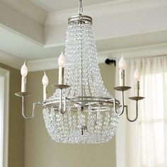 Glass Chandelier Beads: 6 Light Glass Chandelier,Lighting