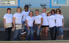 A two day Women Build in Lowell, MA helped build decks, landscape, hang siding, and insulate the basement and attic!