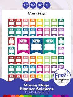 Icon / Functional Stickers – Printables by Design Free Planner Pages, Happy Planner, Monthly Meal Planner, Printable Planner Stickers, Free Printables, Budget Binder, Planning And Organizing, Erin Condren Life Planner, Binder Covers