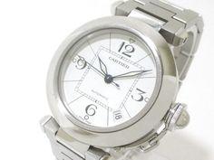 Authentic Cartier Pasha C W31074M7 Unisex Stainless Steel Wristwatch 517941LX #Cartier