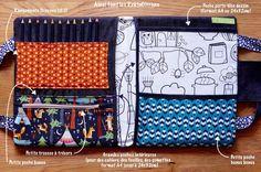 La Sacoche du Petit Gribouilleur, format XL. Sacoche d'artiste, pochette à dessin pour enfant, format A4 jusqu'à 24x32cm.