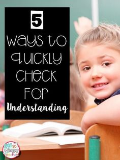 5 quick ways to use informal assessment to check for student understanding after any lesson! Includes two FREEBIES!