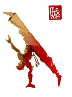 Encres : Capoeira – 613 [ #capoeira #watercolor #illustration]