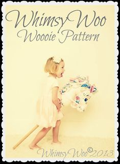 WhimsyWoo Woooie Pattern NO HORN (PDF) This is the most amazing hobby horse pattern - the prettiest one I have ever seen. Very exxy at $19 though!