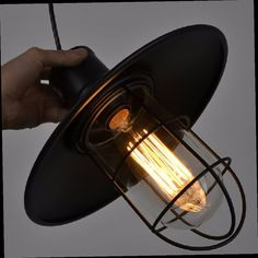 43.18$  Buy here - http://ali45j.worldwells.pw/go.php?t=32353763607 - Antique Decoration Vintage Industrial Factory Metal Glass Birdcage Cage Pendant Light Wire Steel Lampshade Bar Lamps with Bulb 43.18$