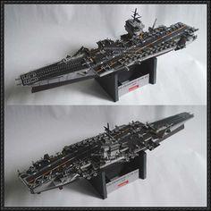 USS Enterprise (CVN-65) Aircraft Carrier Free Paper Model Download