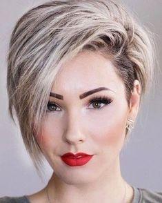 Love this cut! #hairstyleideas #pixiecut #bobhaircut #redlips #hautechaucolatte #bobhaircuts #bobhairstyles #bobhairstyle #shorthairdontcare #shorthair #undercut #bobhaircute #sidecutstyle #haircut #buzzed #sidecut #sudecuthair #sidecuts #haircolor #hairstylist #hairstyles #bobhair #asymmetricalhair #asymmetricalhaircut #asymmetricalhairstyle #asymmetricalbob #modernsalon #shorthairstyles #hairstyle #behindthechair