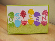Easter Card Oster Karte 2015 Easter Card, Blog, Cards, Stars, Blogging, Maps, Playing Cards