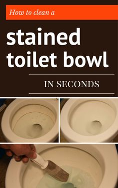 'How To Clean A Stained Toilet Bowl In Seconds - CleaningDIY.net...!' (via CleaningDIY.net - DIY Cleaning Solutions)
