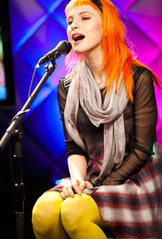 Hayley Williams. The dress and the bright colors
