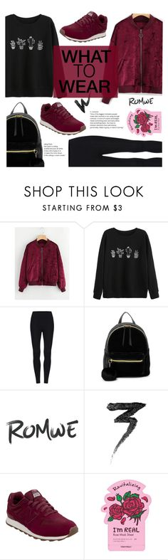 """""""What To Wear - ROMWE"""" by sandralalala ❤ liked on Polyvore featuring T-shirt & Jeans, Manic Panic NYC, New Balance and TONYMOLY"""