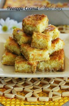 Melissa's Southern Style Kitchen: Pineapple Coconut Chess Bars