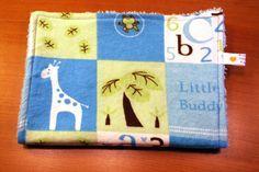 Burp Cloth  Little Buddy Blue and Green Giraffe  by cmhdesign, $8.00