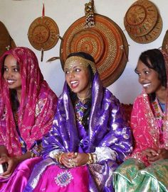 Notice the Oromo basketry - Ethiopia, Harari wedding- The basketry is a part of the giving at weddings, exchanged between families, the women make them and they are passed down through generations.