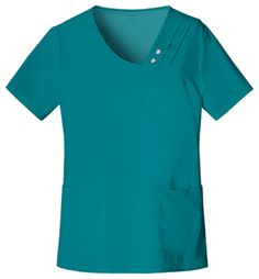 Me encanta ese cuellito//Crossover V-Neck Top in Teal from Cherokee Scrubs at Cherokee 4 Less
