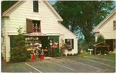 Vintage  Postcard Christmas Tree Gift Shop Yarmouth Port Cape Cod Ma Image from  hancockbob