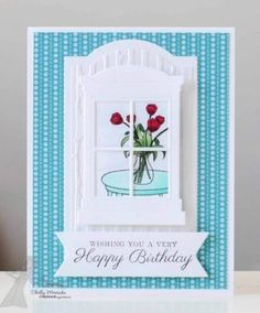 Just bought a window box die in the Tim Holtz collection. Can't wait to start making cards like this one!