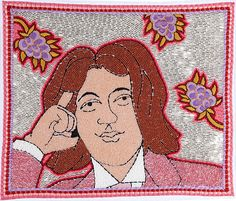 Oscar Wilde/Beaded Embroidery/10.5 Inches x 12 Inches/2009 michaelaaronmcallister.com
