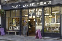 Neal's Yard Remedies.  Neal's Yard is a small alley in Covent Garden between Shorts Gardens and Monmouth Street which opens into a courtyard. It is named after the 17th century developer, Thomas Neale. Wikipedia