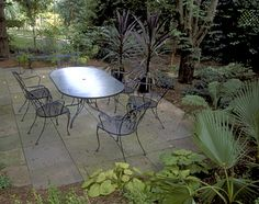 room for gardens and a dining table