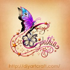 Cynthia #butterfly #hibiscus #tattoo