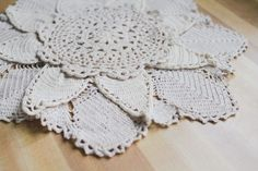 How to Clean Vintage Lace Doilies