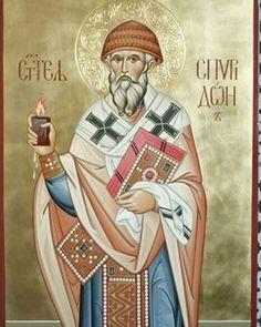 Фрагмент иконы святителя Спиридона Тримифунтского.С праздником! #икона…