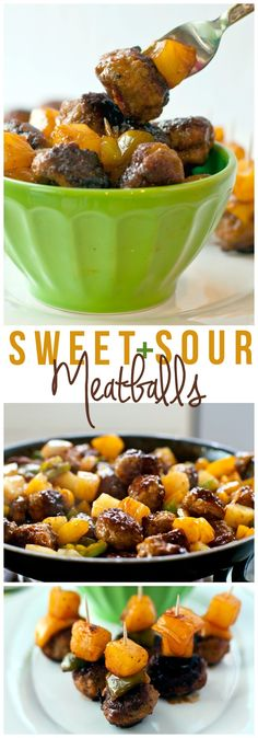 These Sweet and Sour Meatballs take the classic flavors of Sweet and Sour Pork and pack them into cocktail meatballs for an easy, crowd-pleasing appetizer. [AD] #Porksgiving @porkbeinspired