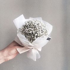 Wrap a small bunch of baby's breath!
