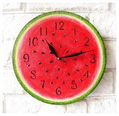 The Watermelon Wall Clock Home Decor for Children Baby by ArtClock, $30.00