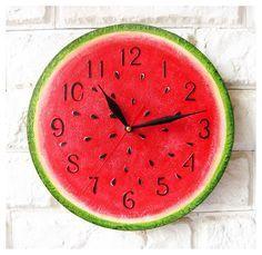 Unique Wall Clocks | The Watermelon Wall Clock Home Decor for Children Baby Kid Boy Girl ...