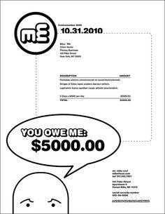 Branding Invoice Design Neon Branding Pinterest Identity - Funny invoice template