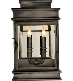 Visual Comfort E.F. Chapman 2 Light Wall Lantern in Bronze with Wax CHD2908BZ #visualcomfort #lightingnewyork #lighting