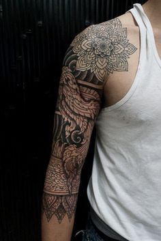 Mandala Sleeve Tattoo for man - 30+ Intricate Mandala Tattoo Designs <3 <3
