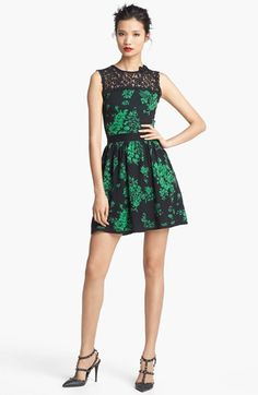 RED Valentino Lace & Floral Jacquard Dress available at #Nordstrom