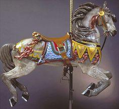carousel art, carousel anim, paint poni, carousel horses, round, grey, carousels, wooden hors, carouselhors