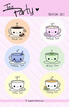 kawaii! Tea magnets,