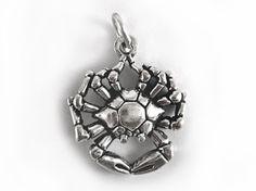 #Sternzeichen Anhänger   #Krebs  (22.06.-22.07.)     aus 925 Sterling #Silber…