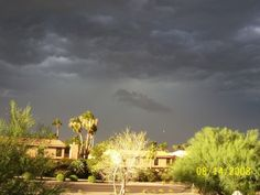 Arizona Dust Storms followed by Thunderstorms