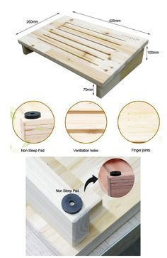 footrest plans Diy Standing Desk, Picture Frame Decor, Woodworking Desk, Diy Bed, Diy Home Improvement, Wooden Diy, Foot Rest, Diy Room Decor, Wood Projects