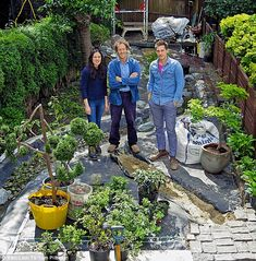 Big Dreams, Small Spaces is broadcast on BBC2:  Mei An, Monty Don, Gerard