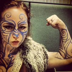 Channeled my ancient ancestors for Halloween this year. Celtic warrior woman... rawr and such! by lucidRose, via Flickr