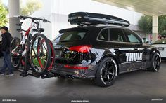 Audi has always made it easy to accept that fact with attractive offerings like their Q-series family, but this spoon full of Allroad Outfitters sugar helps the crossover medicine go down even more easily. S8 Audi, Audi Rs, Best Bike Rack, Audi Wagon, Sema 2015, Roof Box, Audi Allroad, Moto Car, Street Racing Cars