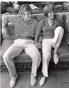 "Robert Redford and Natalie Wood relax on the set of ""Inside Daisy Clover"" (1966)"